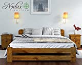 New Solid Wooden Pine Bed Frame 'ONE' with plywood slats : (Oak, King size)