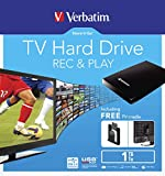 Verbatim 53180 1 TB 2.5-Inch USB 3.0 Store 'n' Go TV Hard Drive - Black