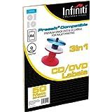 Infiniti RSWL50 A4 Blank White CD Label (50)