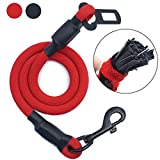 AMZNOVA Dog Seat Belt, Chew Proof Dog Car Harness Restraint Pet Safety Latch Seatbelt No-Chew Leash for Cat Puppy Small Large Dogs Travel Carring Red, XL