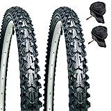 CST Eiger Mountain Bike Tyres 26' x 1.95' (PAIR) & Presta Inner Tubes