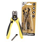 Professional-Grade Dog Nail Clippers by Thunderpaws with Protective Guard, Safety Lock and Nail File - Suitable for Medium and Large Breeds