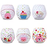 Ateid Toddlers Baby Girls' Reusable Potty Training Pants Cotton Pack of 6 1-2 Years