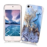 iPod Touch 5/6 Case Xiaoximi Marble Texture Cover Soft Flexible TPU Silicone Shell Ultra Slim Lightweight Phone Skin Protective Back Cover Antiscratch Antishock Bumper for iPod Touch 5/6 - Ocean Pattern