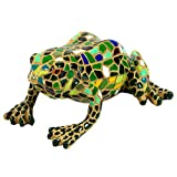 Green Mosaic Frog Polyresin Garden Animal Ornament