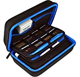 TAKECASE New Nintendo 3DS XL and 2DS XL Carrying Case - Includes XL Stylus, 16 Game Storage, Accessories Pocket, Hard Shell and Screen Cloth - Blue/Black