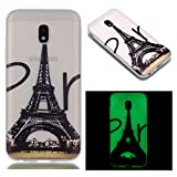 AllDo Gel case for Samsung Galaxy J5 2017 SM-J530F Case Luminous Silicone Cover Glow in Dark Translucent Rubber Case Smooth Lightweight Cover Printed Pattern Design Shell Flexible Soft Bumper Scratch-Resistant and Shockproof Protective Shell - Eiffel Tower