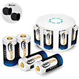 For Arlo Camera HD 8 Pack RCR123A Battery Rechargeable, Keenstone 3.7V 700mAh Li-ion Batteries Rechargeable, 2 Arlo Skin Covers and Charger adapter included for Arlo Camera VMS3030/3230/3330/3430