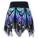 Womens Skirt,Moonuy Womens Skirts,Girl Butterfly Printed High Waist Uniform Pleated Skirt Party Cocktail Beach Jumpsuit Evening Party Dress For Ladies Fashion Casual Autumn Summer Skirt (S, Blue)