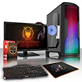 Fierce Exile RGB Gaming PC Desktop Computer Bundle - Fast 3.8GHz Quad-Core AMD A-Series 9700, 1TB Hard Drive, 8GB of 2400MHz DDR4 RAM / Memory, AMD Radeon R7 Integrated Graphics, ASUS AM4 PRIME A320M-K Motherboard, CiT Matrix RGB Case, HDMI, USB3, Wi - Fi, Perfect entry into PC Gaming, Windows 10 Compatible, Keyboard and Mouse, 21.5-Inch Monitor, Gaming Headset, 3 Year Warranty 353038