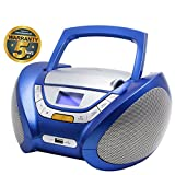Lauson Cd-Player | Boombox Stereo | Portable Radio CD Player with USB | Usb & MP3 Player | Headphone Jack (3.5mm) | CP746 (Blue)