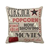 Nunubee Linen Home Cushion 18 X 18'(45x45cm) Throw Pillow Sofa Decoration Decorative