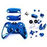 HDE Blue Chrome Custom Replacement Wireless Game Controller Shell Case Cover Kit for Xbox One Gaming Controllers