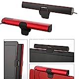 AKORD Portable Laptop /Computer/PC Speaker Subwoofer USB Soundbar Sound Bar Stick Music Player Speakers For Laptop PC Tablet (Red)