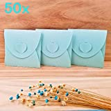JZK 50 x Blue paper blank envelope covers for CD DVD instant snap shot photos, party favour sleeve case for wedding birthday baby shower baptism graduation party festival Christmas