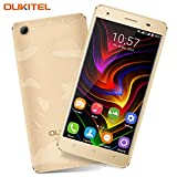 Rugged Mobile Phone, OUKITEL C5 Pro SIM Free 4G Dual SIM Smartphone 5 Inches IPS HD Screen Android 7.0 Quad Core 2GB RAM 16GB ROM 5MP + 8MP Cameras 2000mAh Battery GPS Cell Phone - Gold