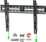 ONKRON Fixed TV Mount – Tilt TV Wall Bracket for 40' – 70 Inch LED LCD OLED 4K Flat Panel TV Screens up to 50 kg TV Mount with HDMI Cable & Spirit Level – TM3
