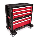 Keter DIY Tool Storage Trolley Tool Chest with 5 Drawers - Black/Red/Silver