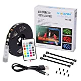 Emotionlite Bias Lighting Strip LED TV Backlight Strip Multi Color RGB Tape Color Changed with 24keys Remote Control for 32' to 60' Flat Screen HDTV LCD and Desktop PC [Energy Class A++] [Energy Class A++]
