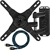 "Cheetah Mounts ALAMEB Articulating Arm (15"" Extension) TV Wall Mount Bracket for 12-37' (30-90cm) Displays up to VESA 200 and up to 40lbs (18kg), Including a Twisted Veins 10' (3m) HDMI Cable"
