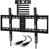 Perlegear TV Wall Tilt TV Mount 4 K LED/LCD/OLED TV 81 and 178 cm/32 – 70 inches/VESA 200x100 to 600x400 mm Tilt TV Wall Bracket with 1.8 m HDMI Cable & Spirit Level