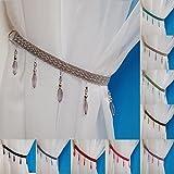 Crystal Beaded Curtain Tie Back (Silver)