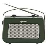 Vintage Style Quality DAB/FM Digital Radio Clock Radio Alarm Clock (Dark Green)