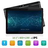 PADGENE M10 10.1' Inch Android Tablet PC 2GB RAM 32GB Storage Phablet Tablet Quad Core Unlocked 3G Cell Phone Tablets Dual Camera Sim Card Slots, Wifi, GPS, Bluetooth 4.0,1280x800 HD IPS Screen Display, Google Play [2018 New Release]