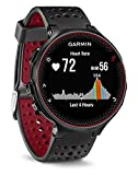 Garmin 010-03717-71 Forerunner 235 GPS Running Watch with Elevate Wrist Heart Rate and Smart Notifications, Black/Marsala Red