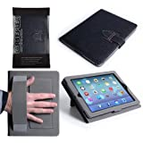 Caseflex iPad Air Case Black PU Leather Stand Cover With Hand Strap