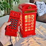 ECVISION Vintage Corded Telephone Two-in-one Landline Phones with Designed USB Charging LED Touch Dimmable Night Light Novelty Home Telephone Office Fixed Line Phone & Desk Lamp (Telephone&Nightlight)