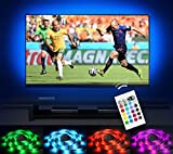 Bias Lighting LED TV Backlight Strip Emotionlite USB Powered Multi Color Changed RGB Tape for 60' to 70' Flat Screen HDTV LCD 24keys Remote Controller [Energy Class A++]