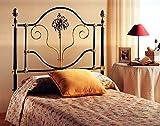 Headboard (brass+iron) PAMPLONA for mattress with 90 cm