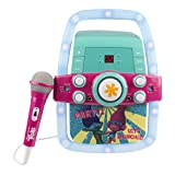 Kids Karaoke Machine Portable Speaker Kit for Children / Kids Toys with Microphone Flashing Bar Karaoke with MP3 Player AUX Jack Point for Connect your iPad, iPhone, iPod, Tablet Device, or the CD player to play music & sing along! (Trolls)