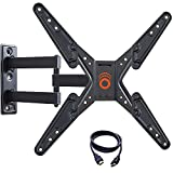ECHOGEAR Full Motion Articulating TV Wall Mount Bracket for most 26-55in TVs - Features 20' of Extension 15º of Tilt & 180º of Swivel for LED, LCD, OLED and Plasma Flat Screen TVs - EGMF1-B2