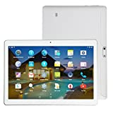 10.1 Inch 4G + 64G Android 6.0 Dual Sim Dual Camera Phone Wifi Phablet Tablet Pc Smart 4+64Gb Double (White)