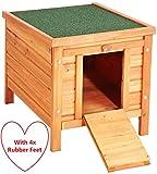 VivaPet Cat /Puppy /Rabbit /Guinea Pig Wooden Hide House - 50 x 42 x 43cm