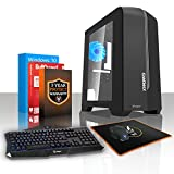 Fierce SAVAGE 16 Gaming PC Desktop Computer Bundle - Fast 3.8GHz Quad-Core AMD A-Series 9700, 1TB Hard Drive, 16GB of 2400MHz DDR4 RAM / Memory, AMD Radeon R7 Integrated Graphics, ASUS AM4 PRIME A320M-K Motherboard, GameMax Centauri Black Case/Blue Fans, HDMI, USB3, Wi - Fi, Perfect entry into PC Gaming, Windows 10 Installed, Keyboard and Mouse, 3 Year Warranty 218829