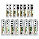 EBL 16 Pack Ni-MH AA AAA Rechargable Batteries Combo (8 X 2300mAh AA Batteries and 8 X 800mAh AAA Batteries)