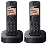 Panasonic KX-TGC312EB Digital Cordless Phone with Nuisance Call Blocker - Black, Pack of 2