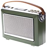 Goodmans 1960's Vintage Style Digital & FM Radio in Moss Green