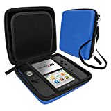 Zedlabz hard protective eva carry case for Nintendo 2DS with built in game storage - Blue