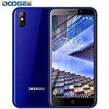 """Mobile Phone Unlocked, DOOGEE X50 Dual SIM Free Smartphone - 5.0 """" 18:9 HD - 3G Android Go Cheap Phones Dual 5.0MP Camera With Flash - MT6580M Quad Core-1.3 GHz - 8GB ROM - Full Glass Body - Blue"""