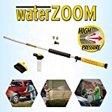 Water Zoom Universal Garden Hose High Pressure Jet Power Lance/Nozzle/Washer With Soap Dispenser and Deep Cleaning Brush Attachment