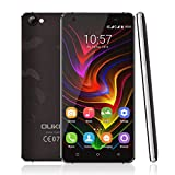 4G Smartphone Unlocked by YKS, C5Pro 5.0inch HD Android 6.0 Dual SIM Free Mobile Phone, 2GB RAM 16GB ROM and Support Micro SD card, MTK6737 Quad Core 1.3GHz, Dual Camera(5MP+2MP) 2000mAh battery, Supports Bluetooth 4.0 GPS and GLONASS, Black
