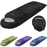 Adtrek Black Hood 400 3-4 Season Single Envelope/Rectangle Camping Sleeping Bag