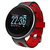 LATITOP LATITOP Fitness Tracker with Heart Rate Monitor, Pedometer, Calorie Counter, Sleep Monitor, Bluetooth Waterproof Smart watch with Alarm Clock, Call/SNS/SMS Reminder, Weather Information for Women and Men(Red)