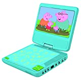 Lexibook DVDP6PP Peppa Pig Portable DVD Player with Car Adaptor and Remote