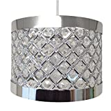 Moda Sparkly Ceiling Pendant Light Shade Fitting, Silver