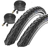 Schwalbe Land Cruiser 26' x 2.0 Mountain Bike Tyres with Schrader Tubes (Pair)